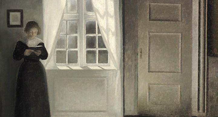 단촐한 집안에서 아내 모델 삼아 일상 그린 빌헬름 하메르스회이 작품, 덴마크 경매 사상 가장 비싸게 팔려