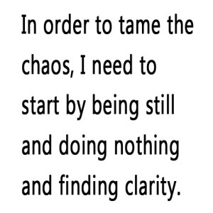 In order to tame the chaos