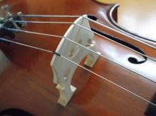 framus cello 26 bridge completed