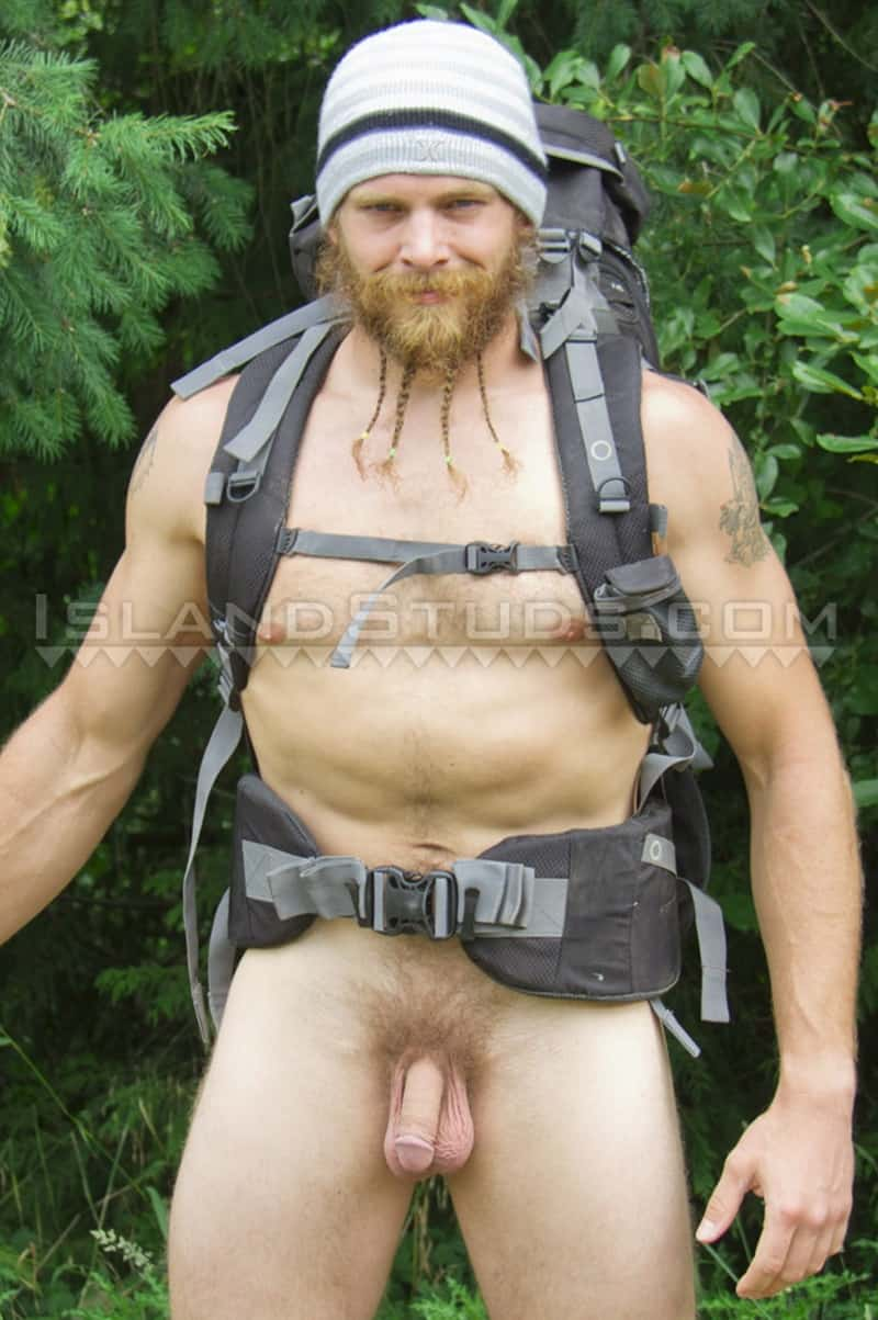 Sexy bearded ripped muscle butt fire fighter Bain camps