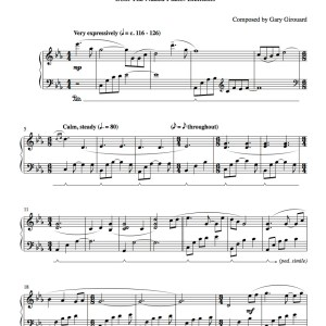 """Cosmic Journey"" Solo Piano Sheet Music (from the Naked Piano Elements)"