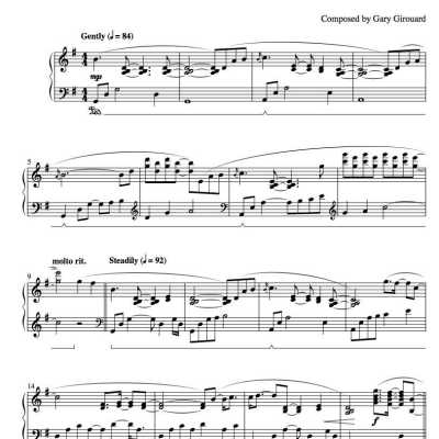 """Esposa"" Solo Piano Sheet Music (from The Naked Piano)"