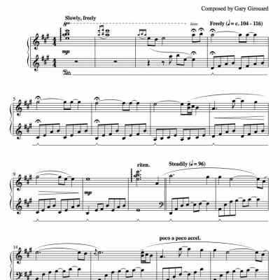 """Viva"" Solo Piano Sheet Music (from The Naked Piano)"