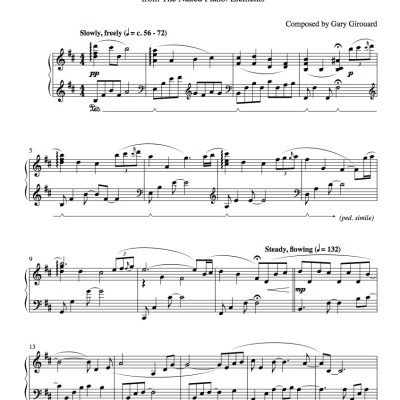 """August"" Solo Piano Sheet Music (from the Naked Piano Elements)"