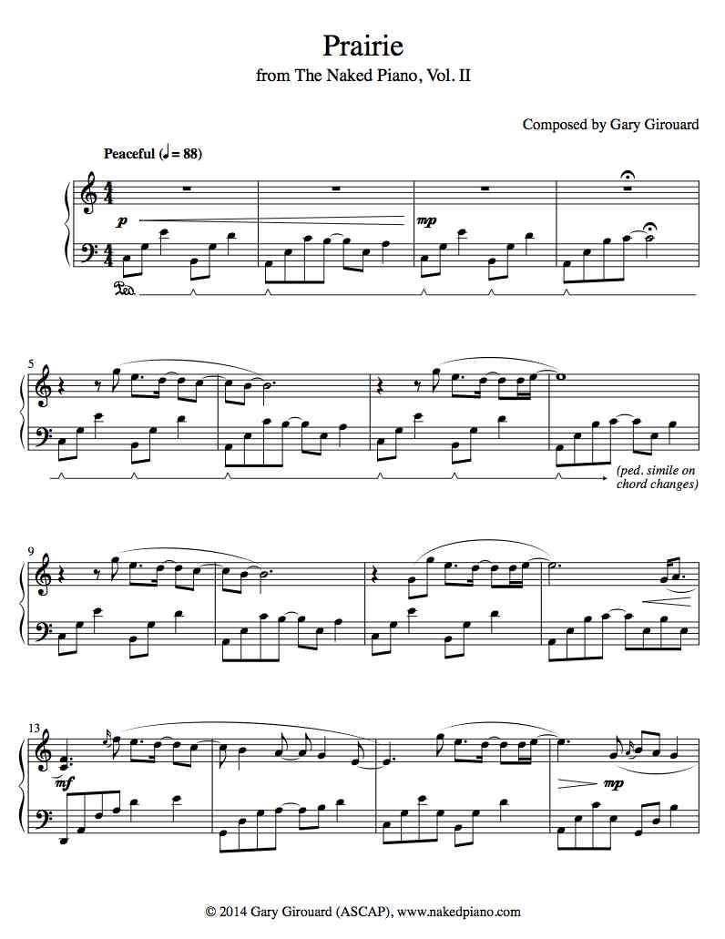 Solo piano sheet music store gary girouard the naked piano solo piano sheet music store hexwebz Choice Image