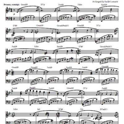 """Renaissance"" Solo Piano Sheet Music (from The Naked Piano)"