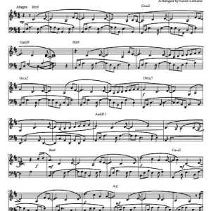 """Sanctuary"" Solo Piano Sheet Music (from the Naked Piano Volume II)"