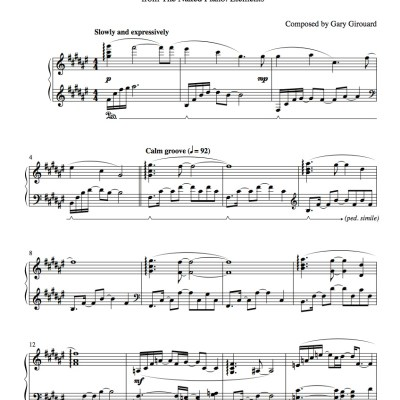 """Sunshine"" Solo Piano Sheet Music (from the Naked Piano Elements)"