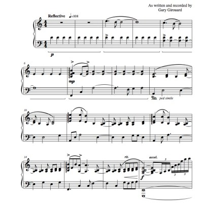 """Out of the Dark"" Solo Piano Sheet Music (from the Naked Piano Light & Dark)"