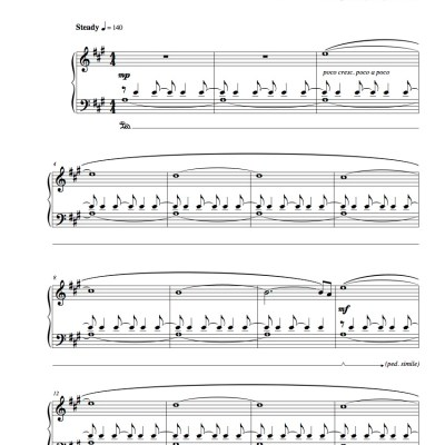 """Chronos"" Solo Piano Sheet Music (from The Naked Piano Transitions)"