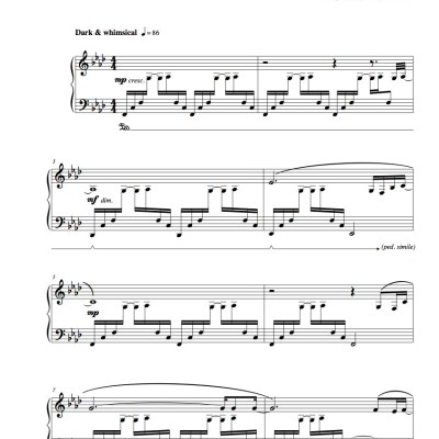 """Nebula"" Solo Piano Sheet Music (from The Naked Piano Transitions)"