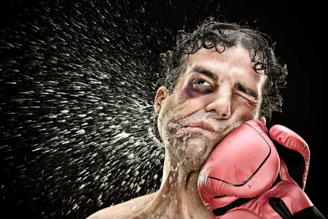 A punch to the face…