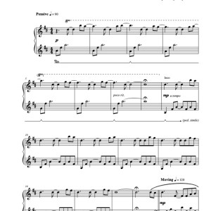 """The Raven"" Solo Piano Sheet Music (from Piano Meditations)"
