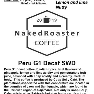 Peru G1 Decaf Coffee