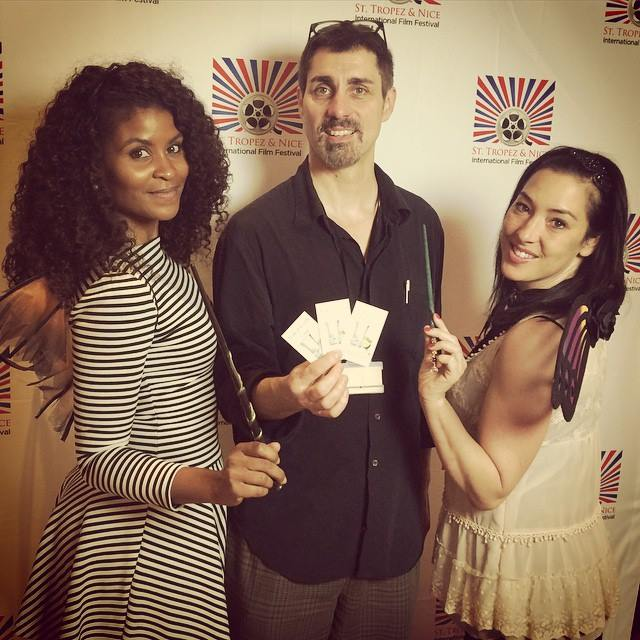 Crystal Cotton, Dean Temple, and Kat Scicluna at the St Tropez Intl Film Festival