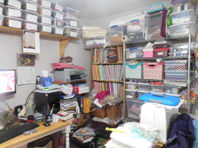 Messy Sewing Space 1