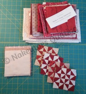 """Miniature Broken Dishes blocks 4"""" square from Nakeytoes Quilting"""
