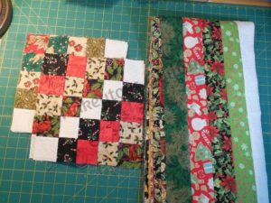 Trip around the world block from Nakeytoes Quilting