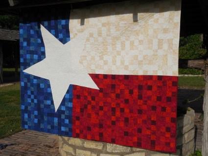 Texas Lonestar 9 Patch Quilt