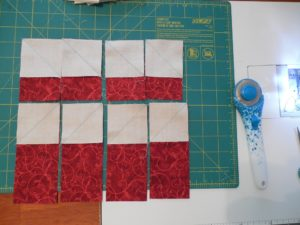 How to snowball a rectangle for the autumn stars quilt