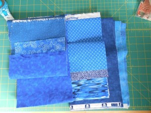 The blues for Good Fortune mystery quilt clue 2