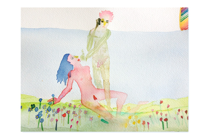 People-Getting-Ready-To-Make-Love-In-A-Meadow