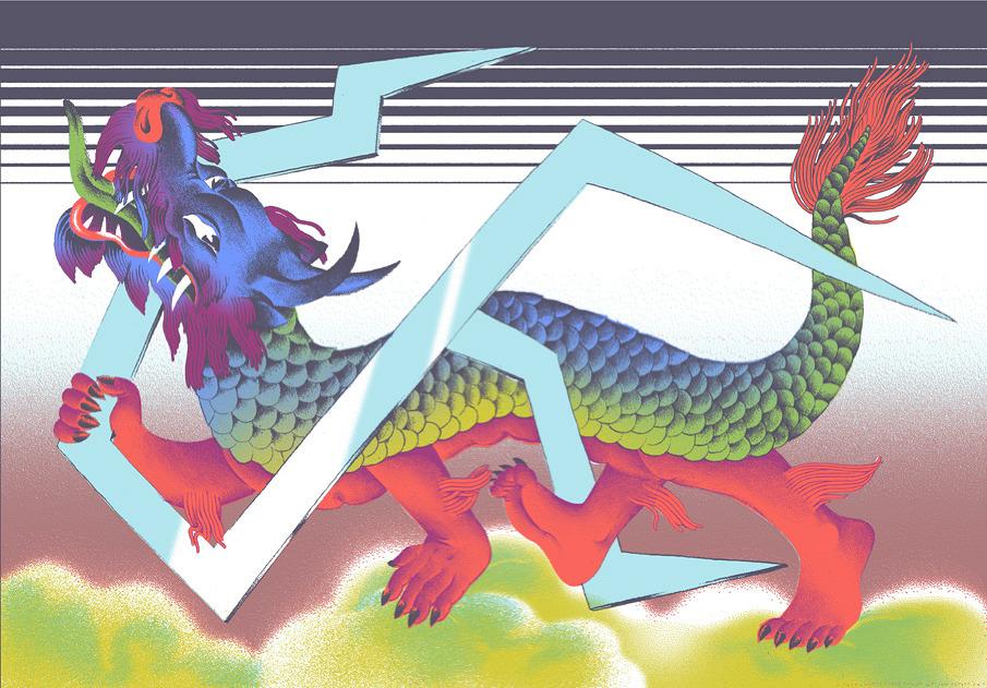 Nakid Magazine, Idle Beats, digital art, mixed media