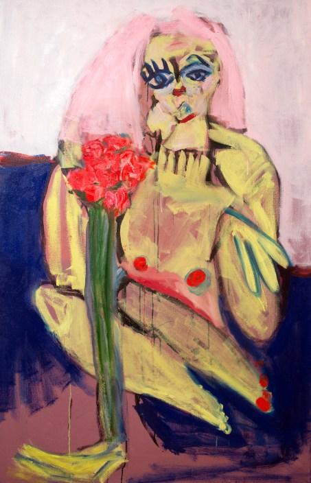 "Jay Miriam, ""Verka with Flowers,"" 2015, photo courtesy Garis & Hahn, New York."