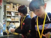 那珂川北中学校・職場体験の風景