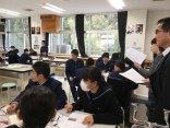 那珂川北中学校 松浦市の校長会の先生方の授業見学