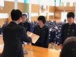 那珂川北中学校 前期学級委員認証式