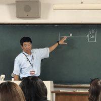 那珂川北中学校 小林先生、大学で授業