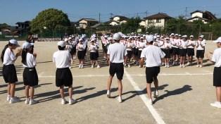 那珂川北中学校 平成30年度体育祭 練習風景