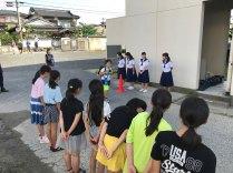 那珂川北中学校 小中合同あいさつ運動