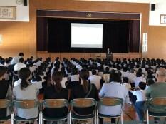 那珂川北中学校 いのちの授業
