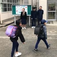 那珂川北中学校 あいさつ運動