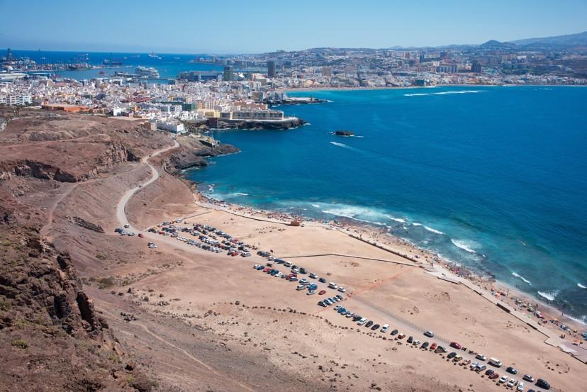 El Confital pláž, Las Palmas, Gran Canaria