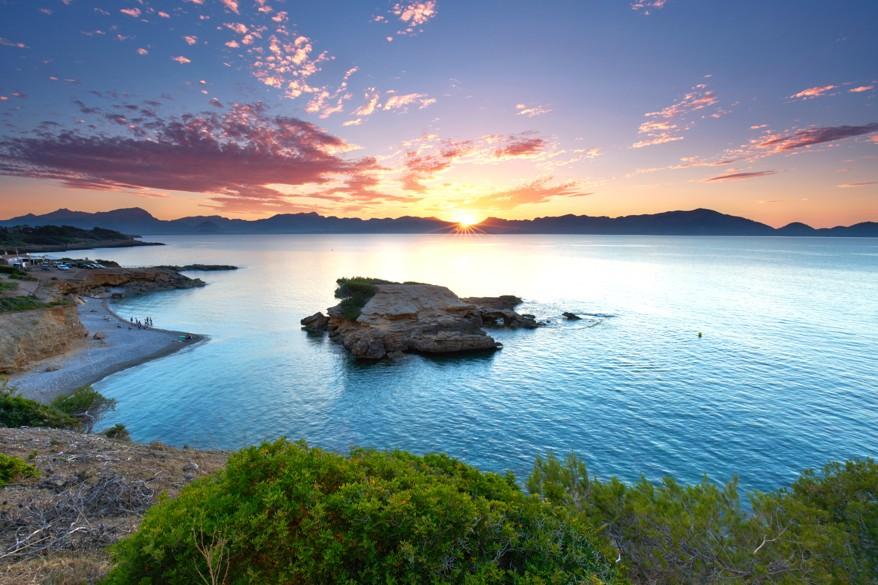 S`illot, Bay of Pollenca near Alcudia, Mallorca
