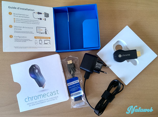 contenu boite chromecast