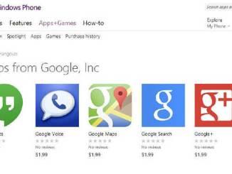 google app fake on windows phone store