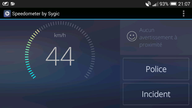 speedometer sygic avertisseur radar vitesse