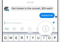 Facebook Messenger money transfert