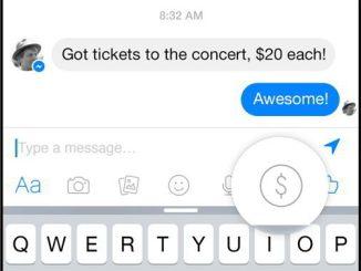 Facebook Messenger money transfert