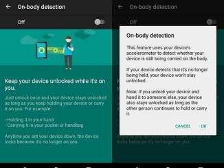 on body protection pour android lollipop