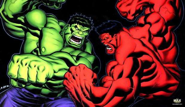 hulk rouge et hulk vert dans captain america