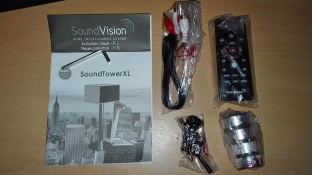 enceinte bluetooth SoundTower XL de Sound Vision les accessoires fournis