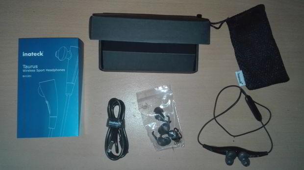 contenu boite casque oreillettes bluetooth BH1001 inateck