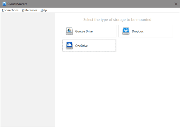 CloudMounter dropbox onedrive google drive cloud disque local