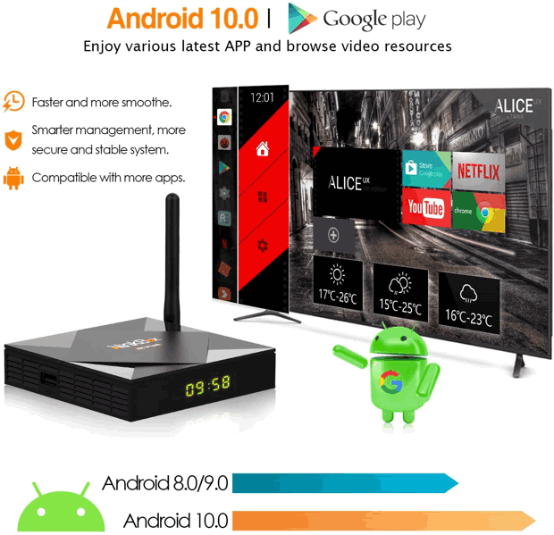 ninkbox n6 plus box android TV menu