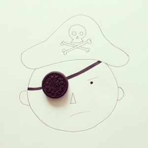javier perez objects drawings simple creative line everyday pirate cintascotch experimentos artist zupi into oreo drawing doodle quirky sketches interact